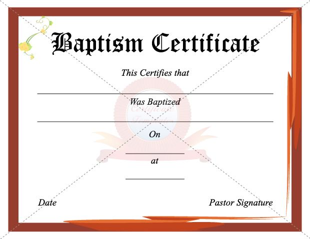 The  Best Images About Baptism Certificate On   Baby