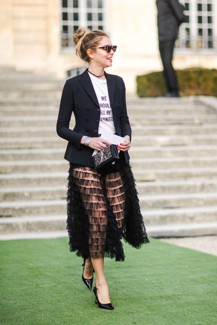 Chiara Ferragni - Christian Dior show, Paris - January 23 2017