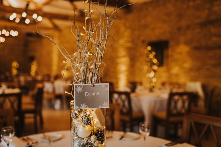 Reindeer table names tie in with the Christmas theme at @caswellhouse. Photo by Benjamin Stuart Photography #weddingphotography #christmaswedding #caswellhouse #reindeernames #weddingdecor #receptiondecor #weddingbreakfast