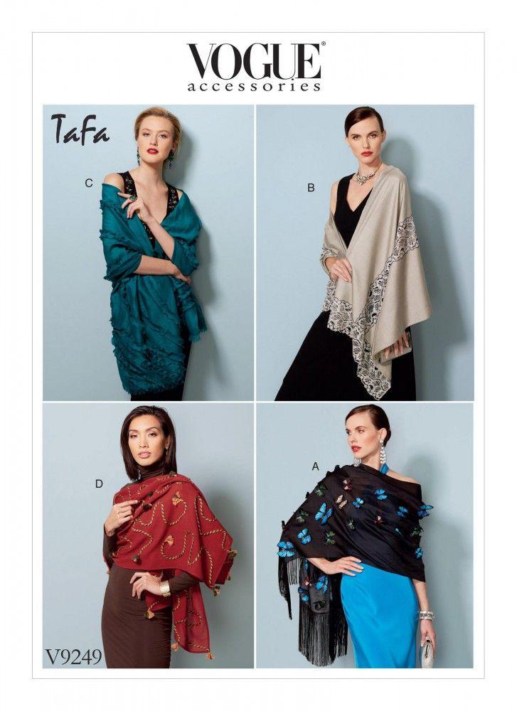 Sjaal in vier maten, Vogue 9249