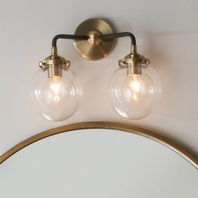 Mod Mix Clear Globe Vanity Light 2