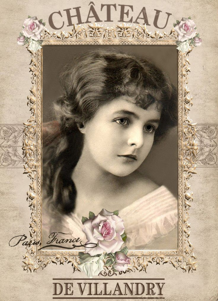 Vintage Girl Digital Collage Sepia P Free To Use