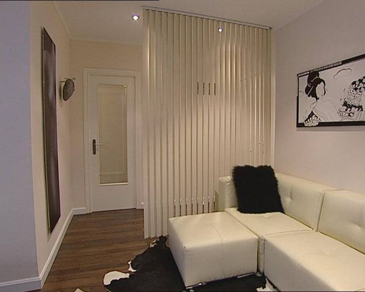 Cortinas verticales hacen de separador podr amos poner for Poner ganchos cortinas