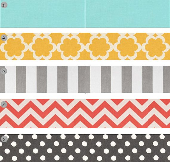 Baby Girl's room colors: gray, white, yellow, teal, and then red and light pink instead of coral ;)