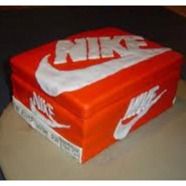 Nike Shoes Cake Design : Nike shoebox cake Sweet Shoe Treats Pinterest Nike ...