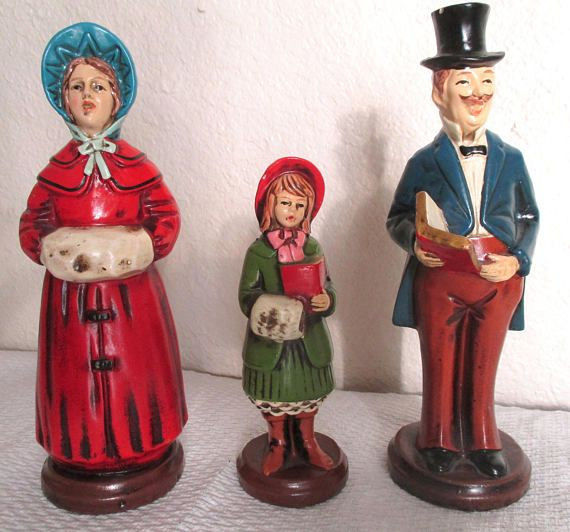 "Singing Carolers Candleholders Figurines Vintage By: 2929 Best ""It's Beginning To Look A Lot Like Christmas"" By"