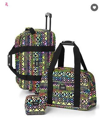 Victorias Secret PINK 3 piece travel luggage set Aztec Print Limited Edition NWT