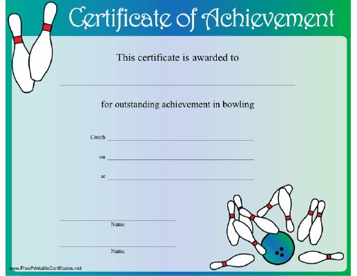 35 best pe awards certificates images on pinterest for Bowling certificates template free