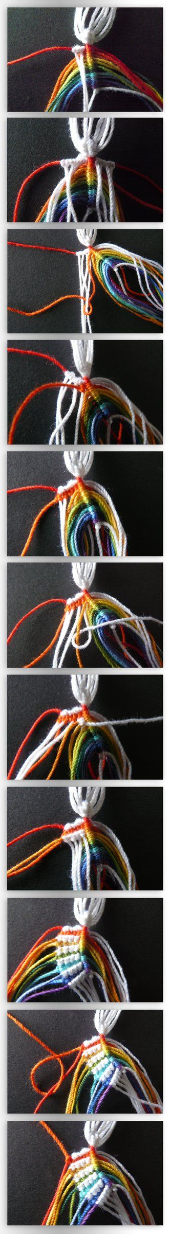 Check the knot variation I used: Part I: Pattern Part II: Part III: Part IV: Part V: