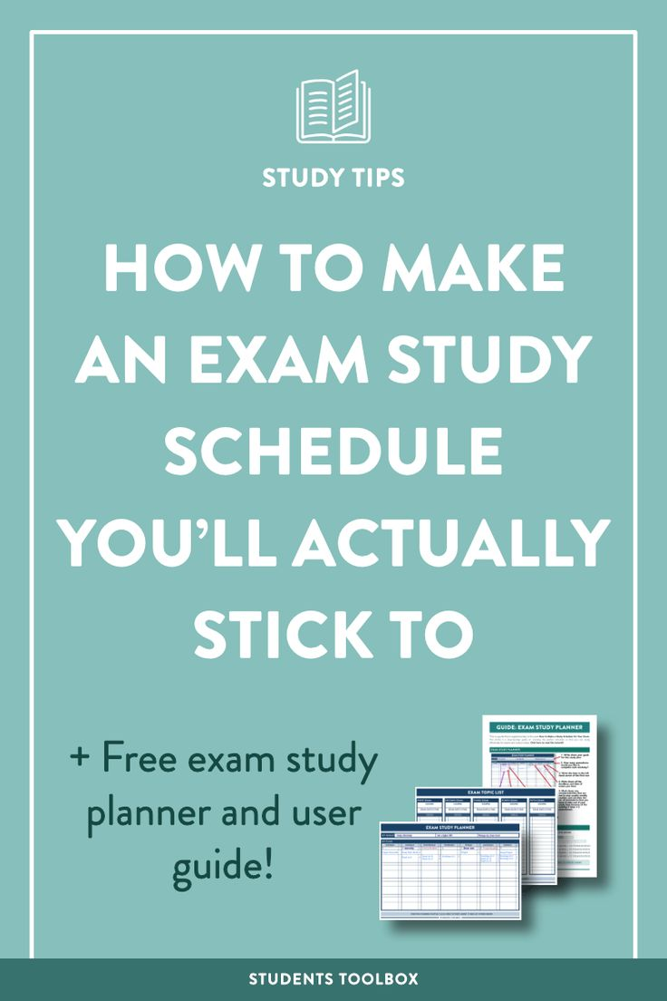 The 25 best final exam schedule ideas on pinterest college how to make an exam study schedule youll actually stick to exam planner xflitez Gallery