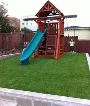 kids play area in small yard - Google Search