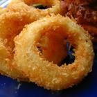 Old fashioned onion rings.. Yumm. The only thing I did different was use saltines instead of bread crumbs for extra crunch!