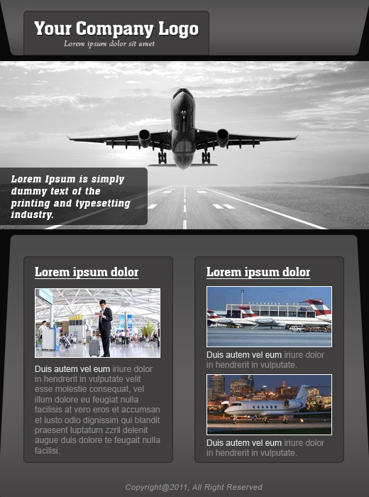 Airport template which will be imported in template management of www.socialboost.nl