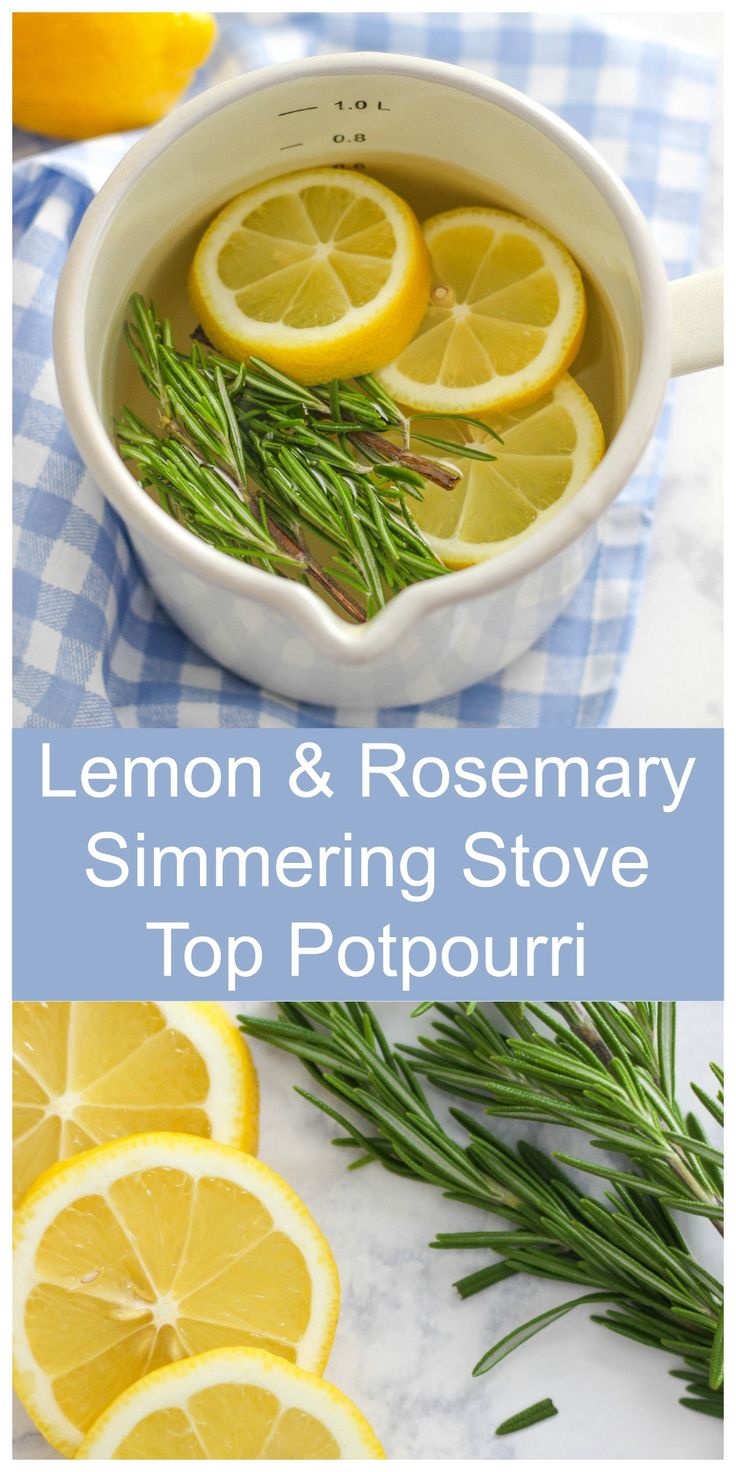 Enjoy the refreshing smells of spring with this easy Lemon and Rosemary Simmering Stove Top Potpourri recipe. Fill your house with the scents of the season.