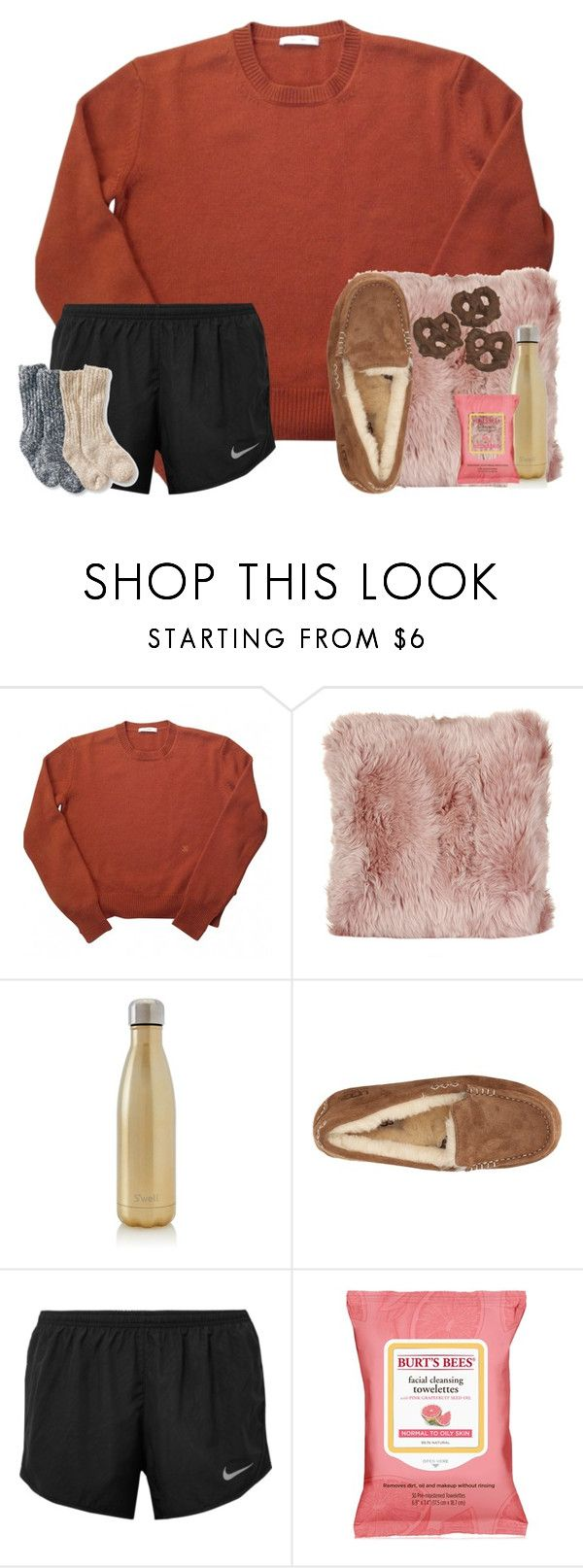 """""""I don't really want a trust fund baby"""" by preppypuffpuff on Polyvore featuring A by Amara, S'well, UGG Australia, NIKE, Burt's Bees and L.L.Bean"""