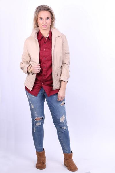 GERRY WEBER SPORT Womens 16 XL Jacket Light Beige Cotton - RetrospectClothes