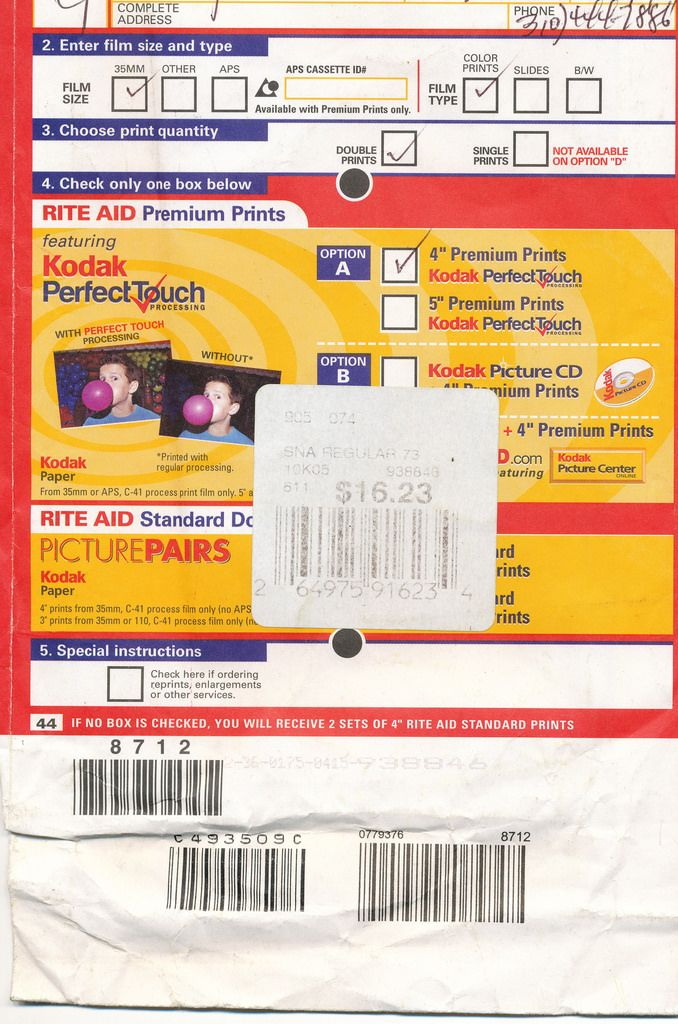 The days when Kodak Picture Envelopes were still relevant