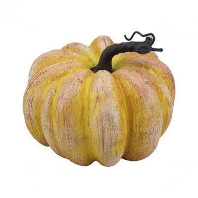 WingTaiTrading Pumpkin Sculpture Color: Orange