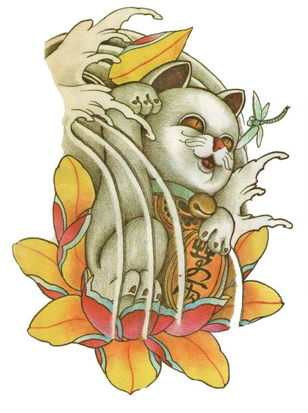 Japanese Tattoo Flash Designs. Top quality high resolution color design, with tattoo stencil outline for instant download. Get the body art you deserve. Many other designs. View at http://mickeymud.com/galleries/