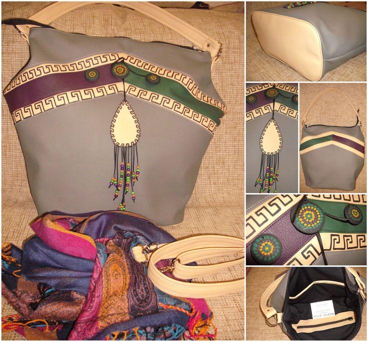 #Kuzyo #bag #new #Greek #handbag #design #trendy #fashion #handmade #painting #accessories