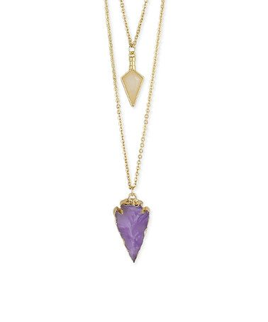 This Purple Arrowhead Pendant Necklace is perfect! #zulilyfinds
