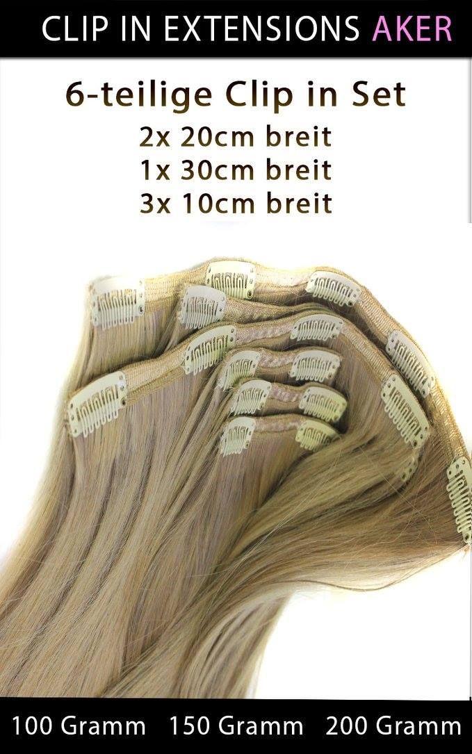 """#ECHTHAAR #CLIP_IN_EXTENSIONS """"AKER""""   Somit können Sie sich eine lang gewünschte Haarverlängerung gönnen und haben im handumdreheneine Komplette Haarverlängerung mit Seitenpartien nur mit secks Volumige Haarteilen.  6-teilige Echthaar Clip in Extensions Set 3x 10cm breit 2x 20cm breit  1x 30 cm breit"""