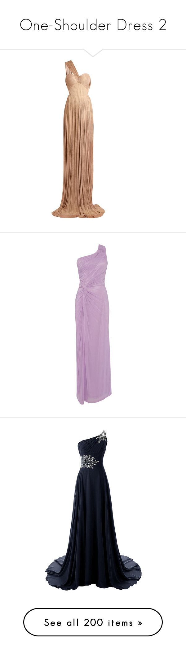 """""""One-Shoulder Dress 2"""" by selene-cinzia ❤ liked on Polyvore featuring dresses, gowns, long dresses, nude, long wrap dress, white silk dress, long white evening dress, white corset, one shoulder gown and lilac"""