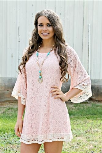 Tied Up In Love Dress - Blush $54.99! #southernfriedchics