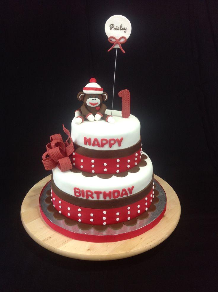 Sock Monkey Cake Lollipop Cake Design Pinterest