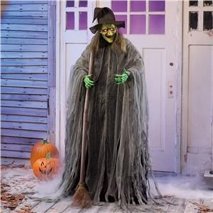 wicked witch with light up eyes from lillian vernon halloween party decorating ideas - Witch Halloween Decorations