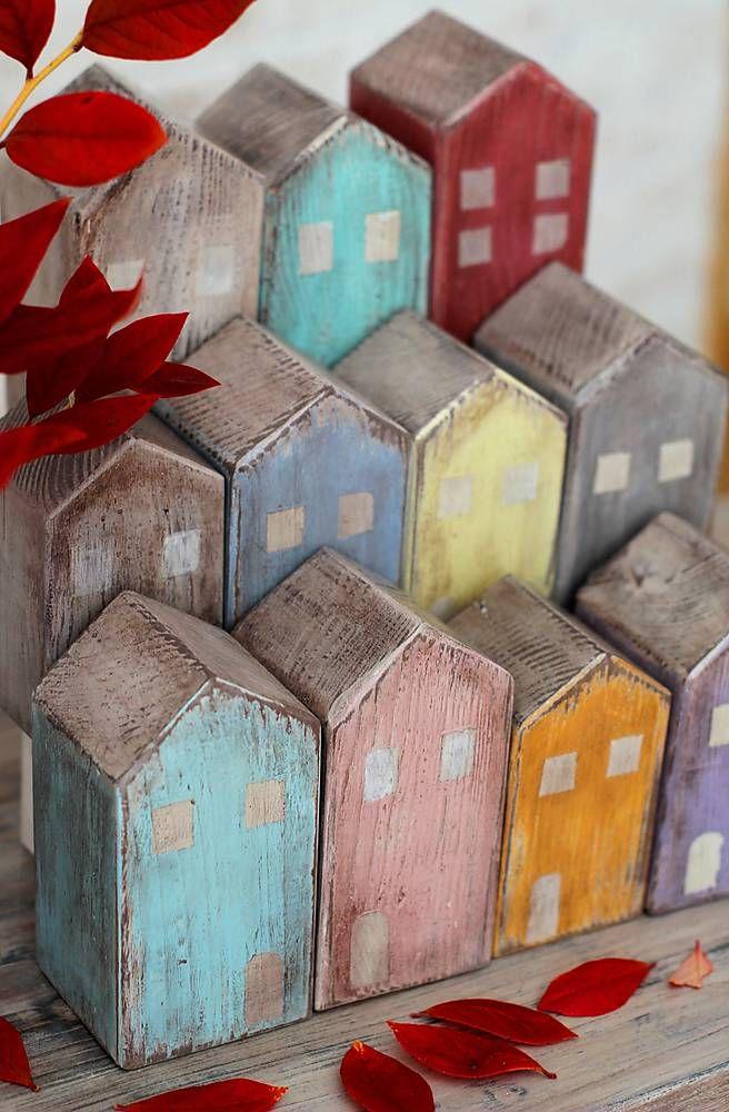 Dekorácie - Drevené domčeky OLD TOWN No1. - 5985754_