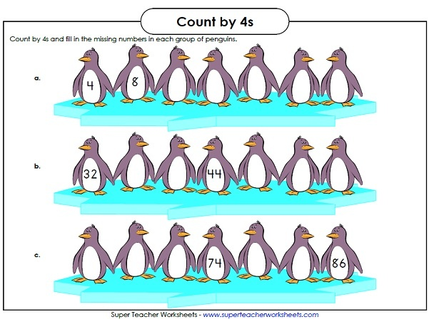 practice penguin skip counting math super teacher worksheets pinterest skip counting. Black Bedroom Furniture Sets. Home Design Ideas