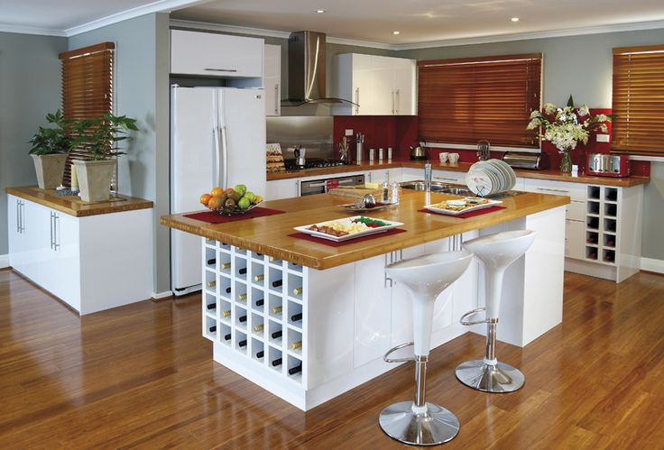 Use our wine racks in your kitchen design as a standout feature! +kaboodle kitchen