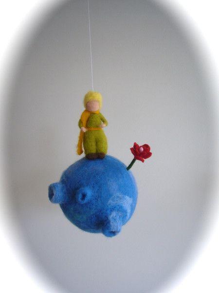 Mobile, Der Kleine Prinz. Gefilzt.Waldorf. von Filz-Art. auf DaWanda.com