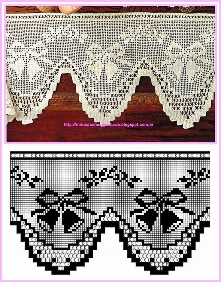 Bordura filet crochet