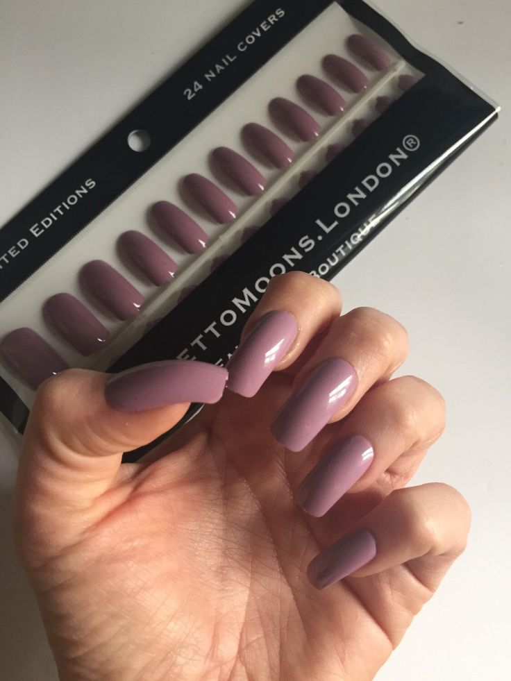 Mauve purple pink Long square press on false nail set. coffin claw stiletto nails by stilettomoonsLondon on Etsy https://www.etsy.com/listing/258309430/mauve-purple-pink-long-square-press-on