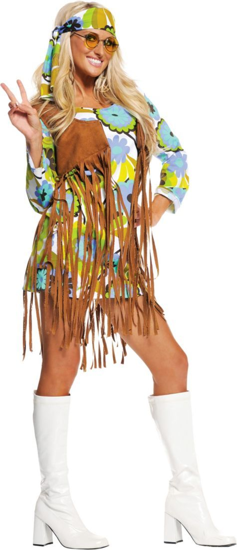 Adult Retro Hippie Costume - Party City