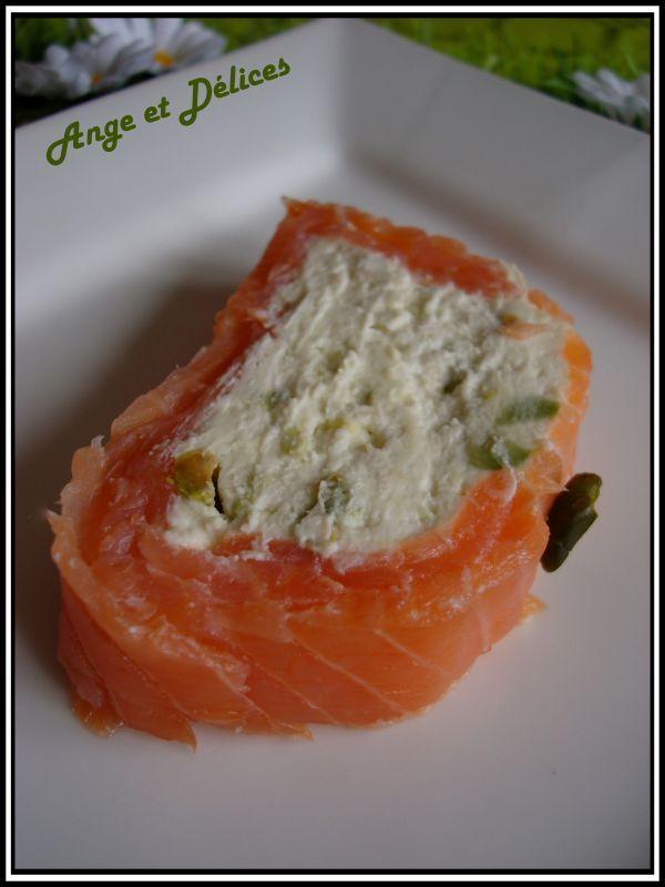 salmon and chevre terrine