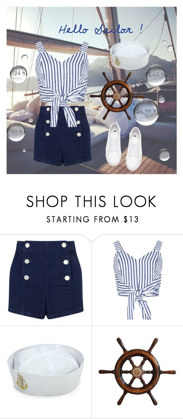 """""""Sailor Costume"""" by lysianna ❤ liked on Polyvore featuring Miss Selfridge, WithChic, Sailor, Costume and halloweencostumes"""