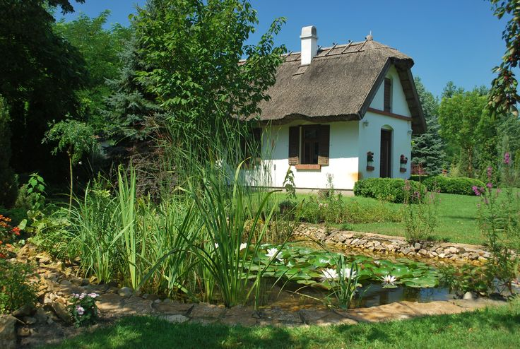 Very Cute Country House Perhaps A Little Pond With Goldfish For The