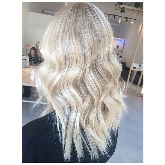 Bright fresh creamy #wellahair blonde