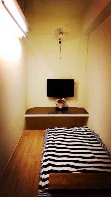 台北地铁1分钟; 适合1人居住的私人房间TV & WiFi 타이페이 지하철 - 永和區的公寓 出租, New Taipei City, 台灣
