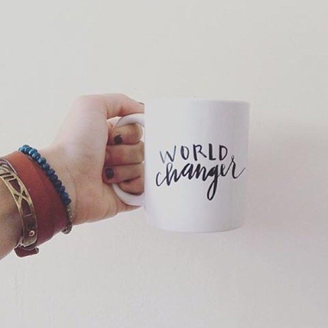 We like to think of our morning #coffee as world-changer fuel. No matter what's in your mug, here's to starting your day off right! Image: @lelize26  World Changer Mug, Noonday Collection, Fair Trade, Handmade, Ethically Made