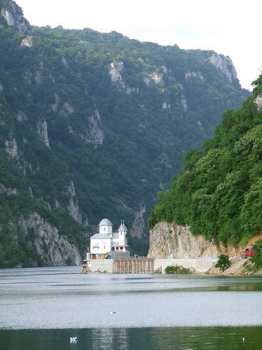 Iron Gates of the Danube between Romania and Serbia.