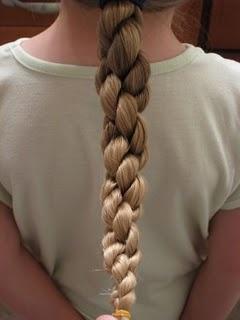 hair, braiding // hawser braid rope twists.