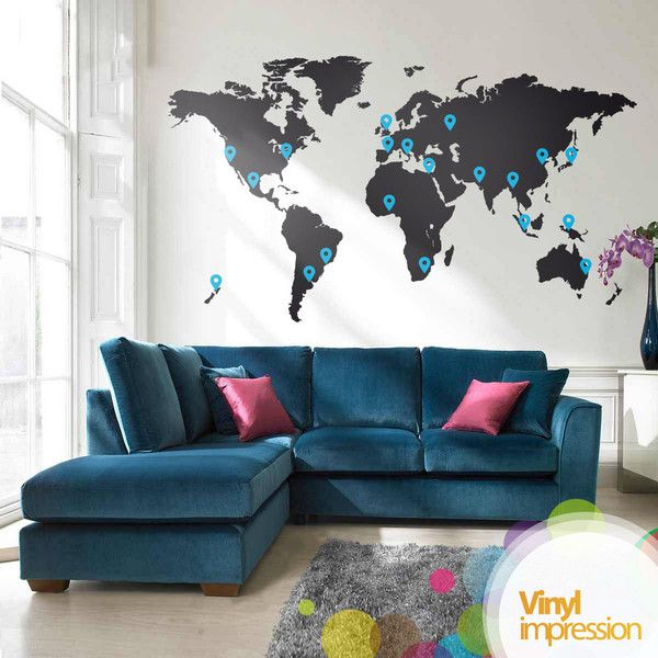 Charming Best 25+ World Map Wall Decal Ideas On Pinterest | World Map Decal, World  Map Wall And World Wide Map Amazing Pictures