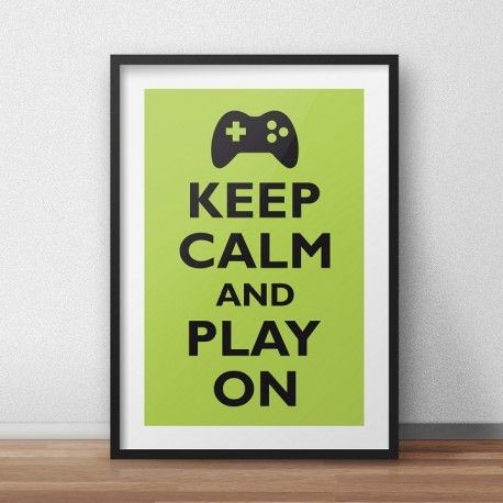 Plakat keep calm and play on littlethings.pl