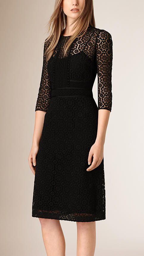 Black Lace Shift Dress - $3000 Burberry dress.  Can you imagine?