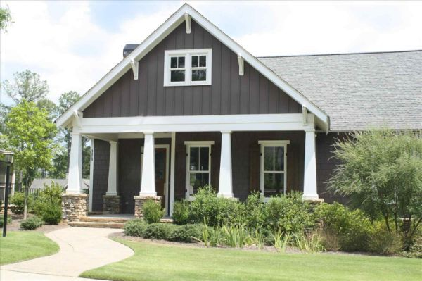 Light Gray Board And Batten Siding Gray House Exterior Hardy Plank Siding Craftsman House