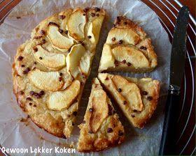 Boterkoek met appel uit de airfryer